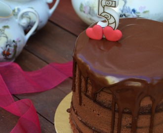 Naked Cake de Chocolate e Caramelo