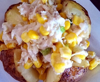 Jacket Potato and Chicken topping