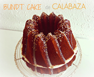 Bundt cake de calabaza con cheesecream y chocolate blanco!!