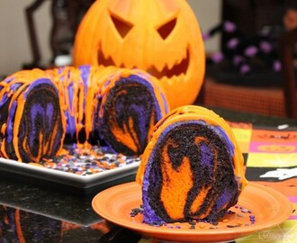 Amazing Halloween Rainbow Party Bundt Cake Recipe