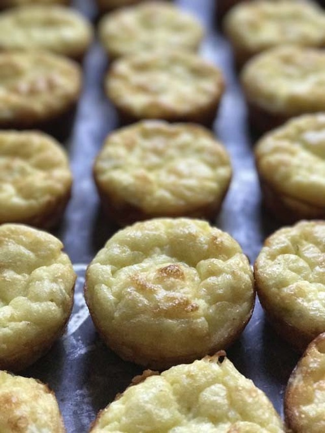 Individual Cheese and Egg Puffs