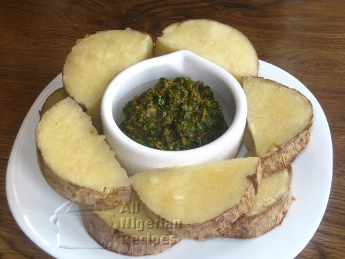 Yam and Vegetable Sauce (Ji Abubo)
