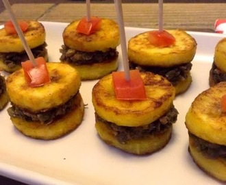 BEANS AND PLANTAIN CANAPES