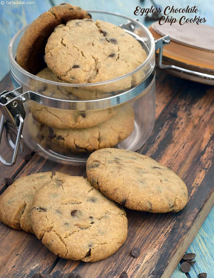 Eggless Chocolate Chip Cookies, Chocolate Chip Cookies