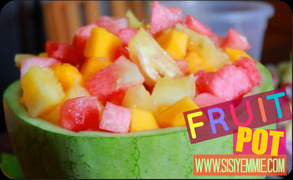 HOW TO MAKE A YUMMY FRUIT POT WITH A WATERMELON! E-A-S-Y