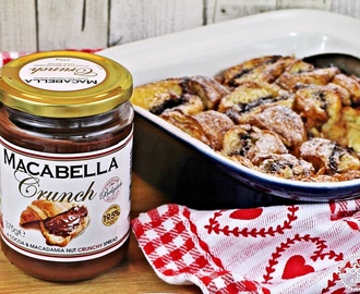 Macabella Croissant Pudding – full of chocolatey, macadamia yumminess!