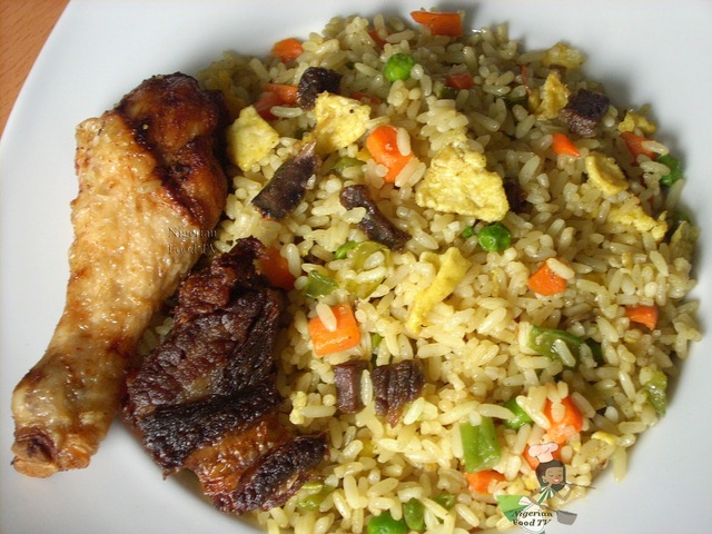 Nigerian Egg Fried Rice