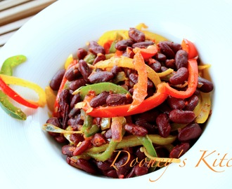 Warm Kidney beans & Sweet Peppers salad