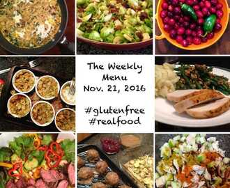 Thanksgiving Weekly Menu #glutenfree #realfood #menuplanning