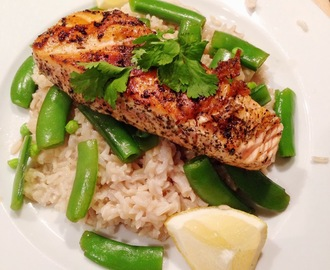 Green Tea Salmon with Coconut Rice