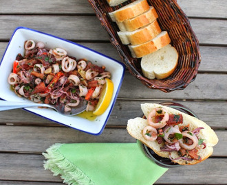 Squid with Garlic Chili Olive Oil for #SundaySupper