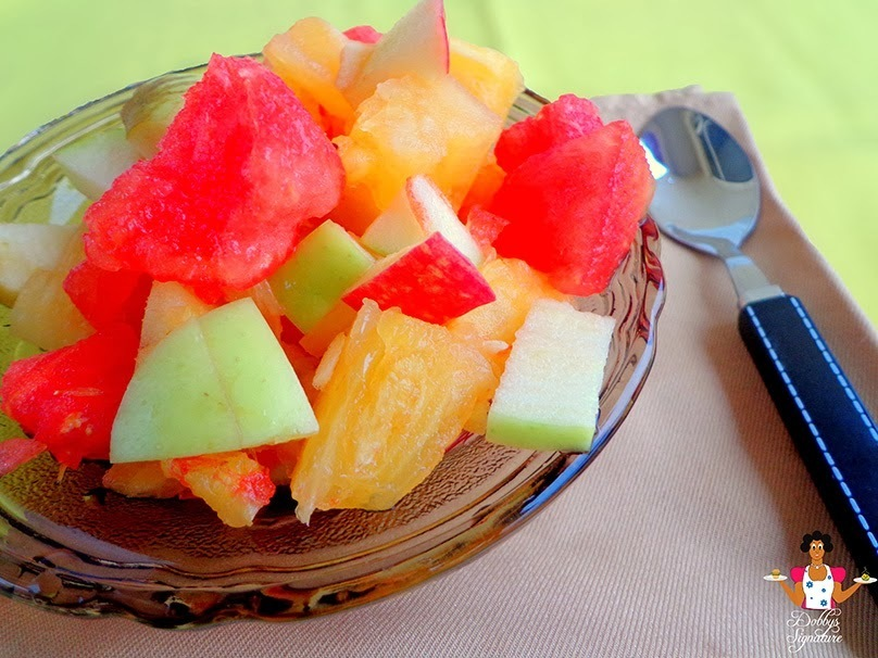 How to make a simple fruit salad