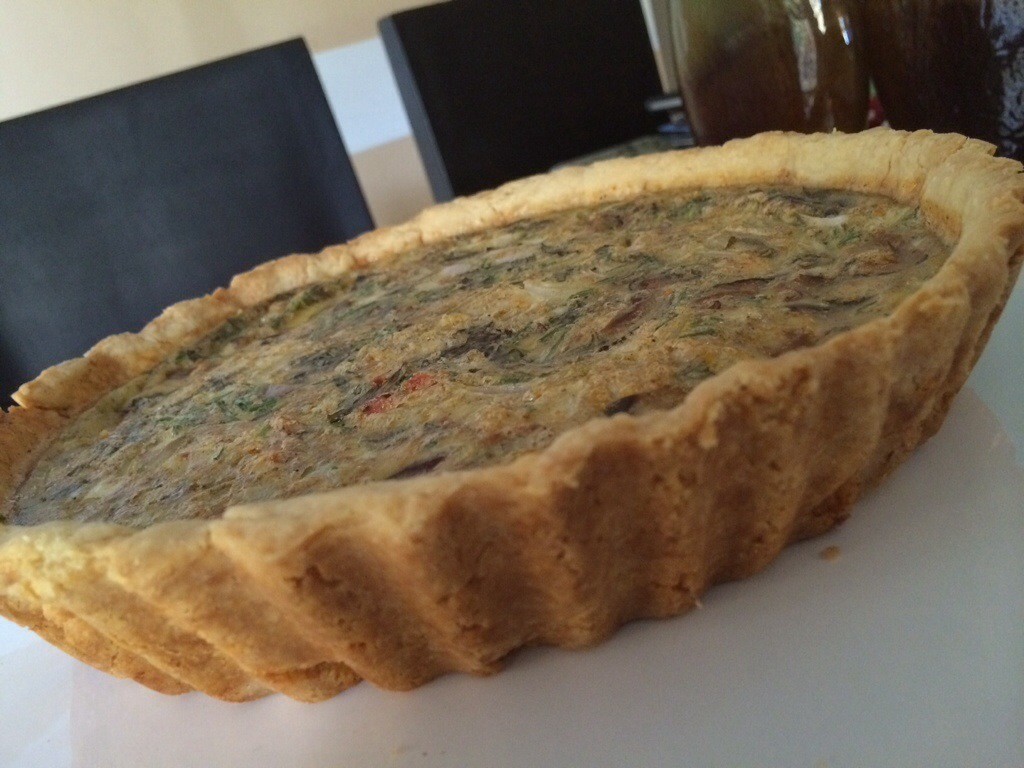 Q is for Quiche – Sun dried tomato and Shiitake mushroom quiche to be exact