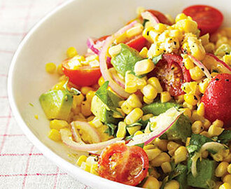 Mexican-style Corn and Avocado Salad