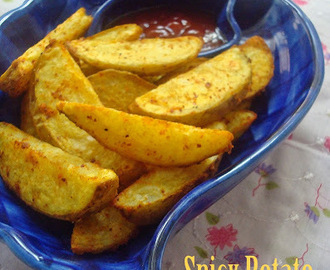 Baked Potato Wedges | Oven Baked Spicy Potato Wedges | Easy snack Ideas
