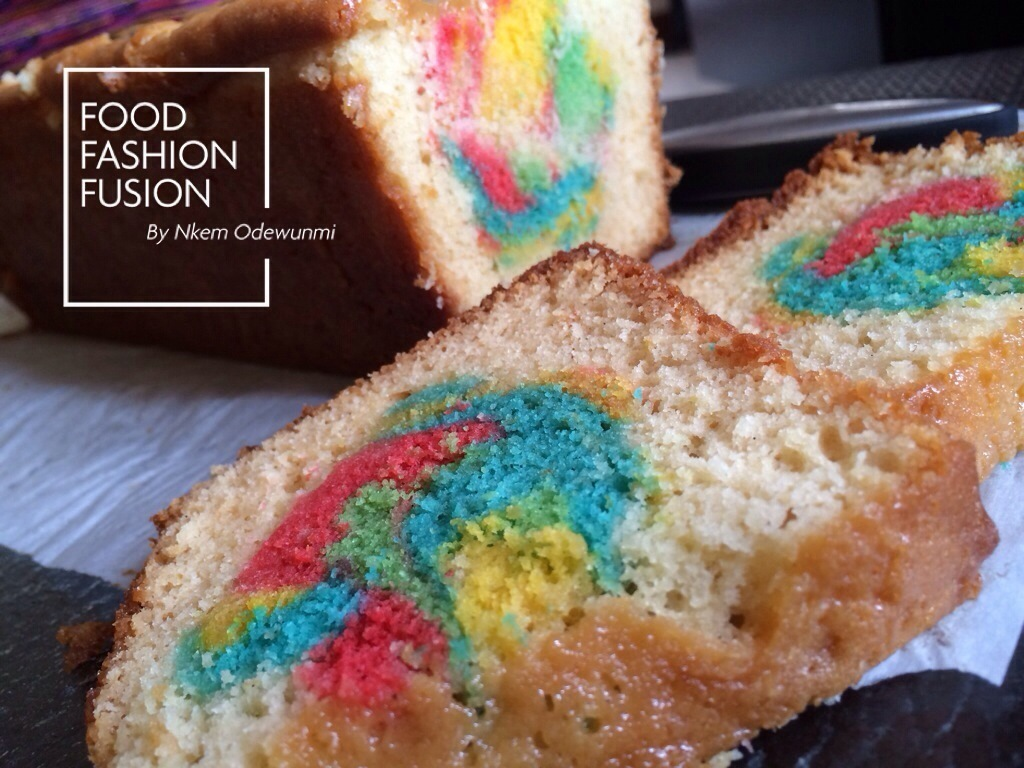 Pound Cake in technicolor