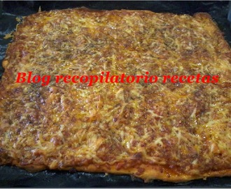 Pizza barbacoa en thermomix