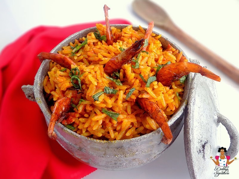 Native jollof rice (Palmoil rice)