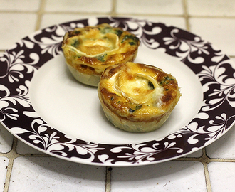 Mini quiches met spinazie en geitenkaas