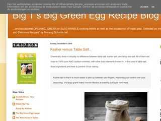 Big T's Big Green Egg Recipe Blog