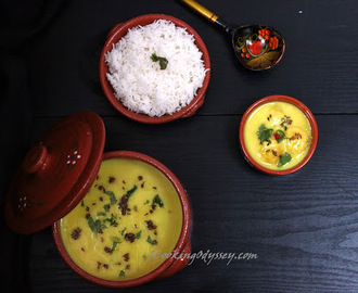 Mooli Kofta Kadhi - Radish Koftas in Seasoned Gram Flour and Yogurt Soup - Tribute to the 1st Indian Master Chef Trala Dalal - World Diabetic day