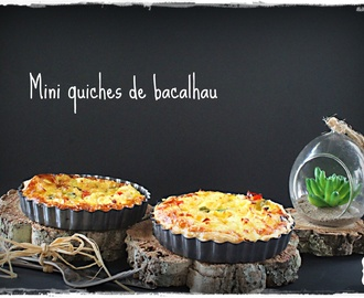 Mini quiches de bacalhau