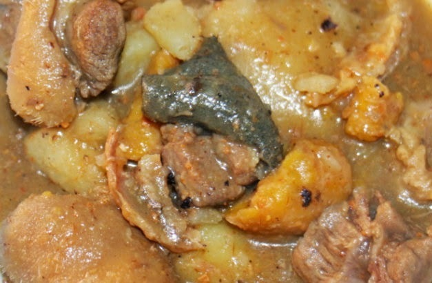 AUTHENTIC URHOBO UKODO RECIPE - YAM/PLANTAIN PEPPER SOUP POTTAGE