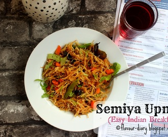 Semiya Upma | Vermicelli Upma Recipe | No onion Garlic Recipe | Indian Breakfast | Flavour Diary