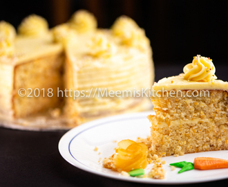 Carrot Cake / Carrot Apple Cake - MeemisKitchen