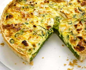 Pea, Goat's Cheese and Mint Quiche...