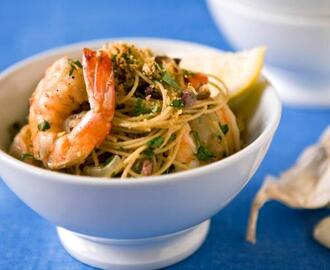 Lightened-Up Shrimp Scampi