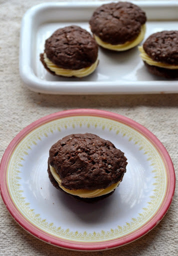 Eggless Classic Chocolate Whoopie Pie