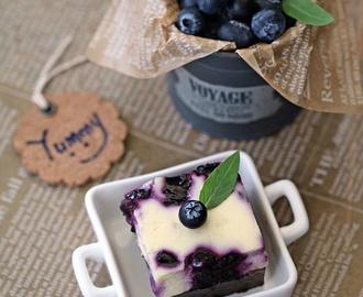 Blueberry Cheese Brownies 蓝莓芝士布朗尼