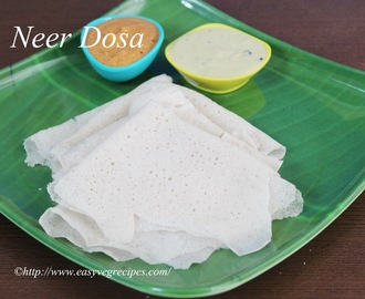 Neer Dosa Recipe -- How to make Neer Dosa