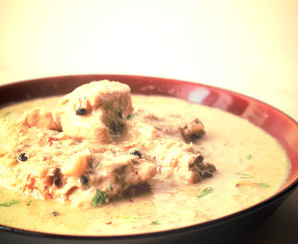 White Chicken Korma recipe, Safed Murgh Kurma