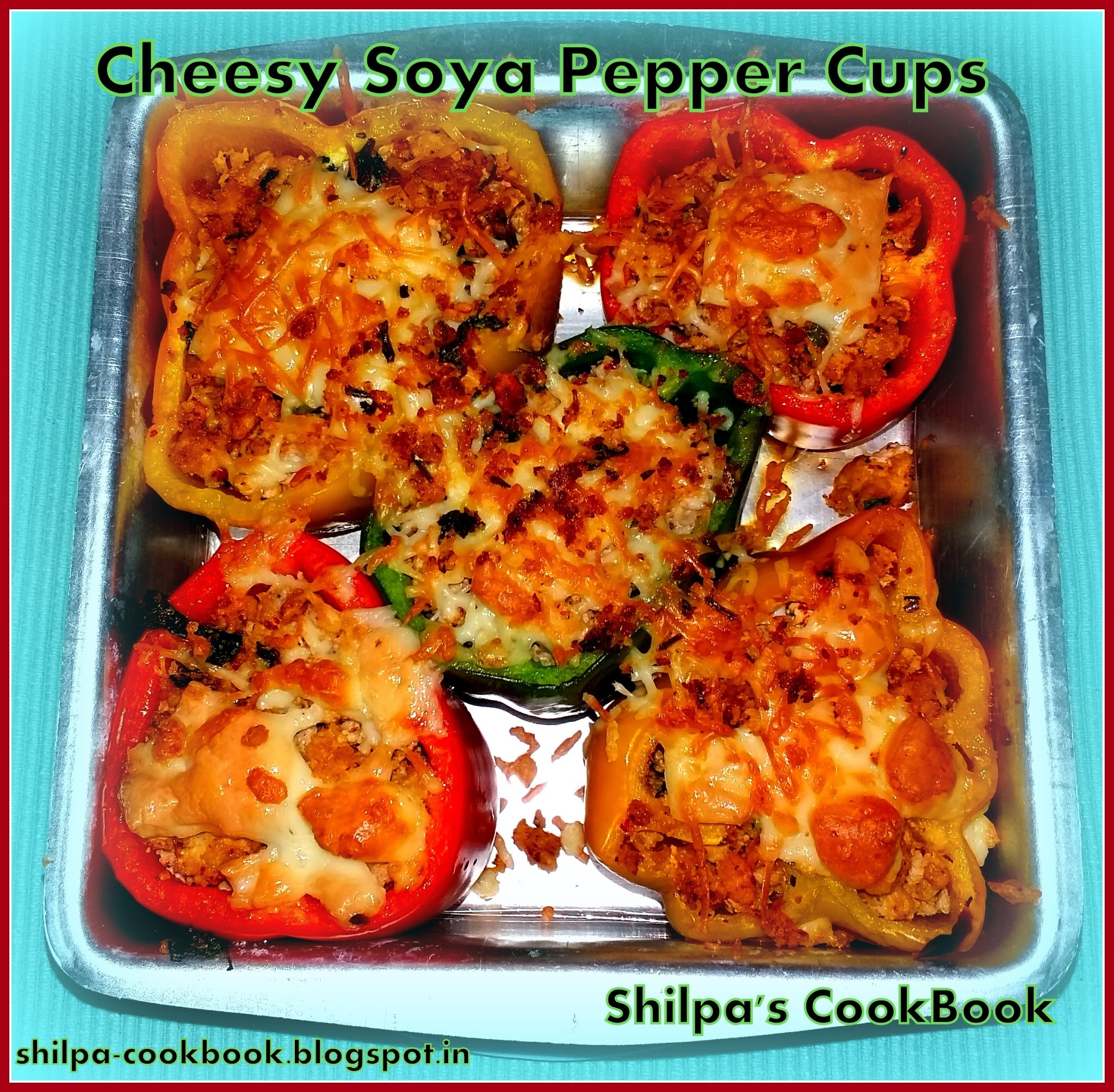 Dish #448 - Cheesy Soya Pepper Cups