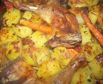 Baked Potatoes and Chicken