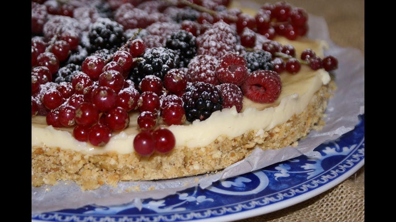 Tarta de Galletas, Crema y Frutos Rojos - YouTube