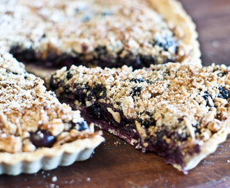 Low FODMAP and Gluten-Free Recipe – Blueberry and Almond Tart – suitable for IBS