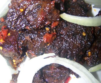 Spicy grilled  peppered Beef Meat