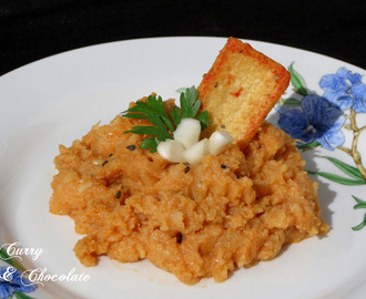 Coliflor esparragada con pimentón - Mashed cauliflower Andalusian style