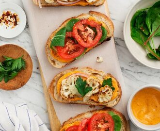 Romesco Cauliflower Sandwiches