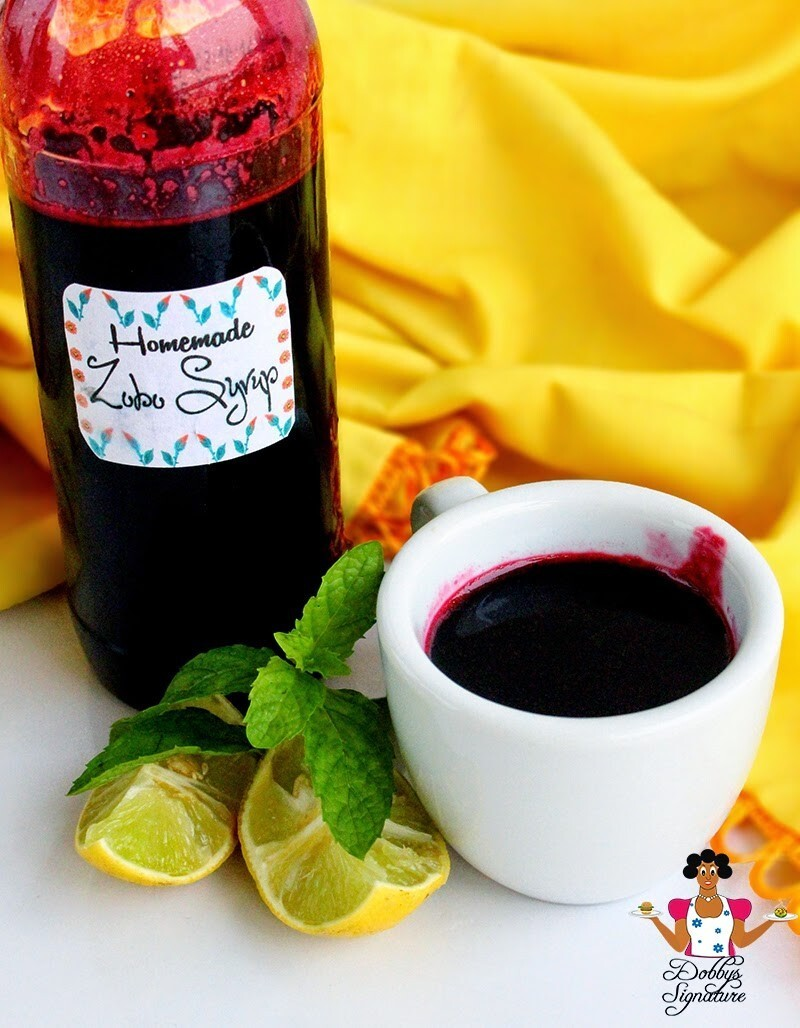 "Homemade Zobo ""Hibiscus"" syrup"