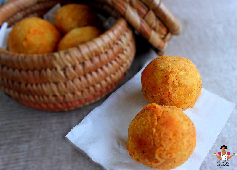 Yam Balls - How to make stuffed Yam balls