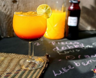 Sunny Fizz - Two toned sunny fizz drink recipe