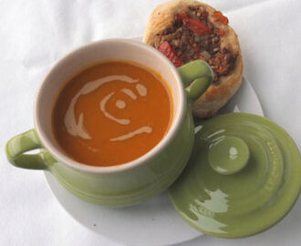 Lebanese Spiced Butternut Squash Soup with Tahini