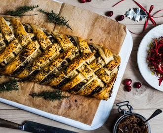 Recipes for the unexpected - Christmas chestnut, mushroom and cranberry roulade