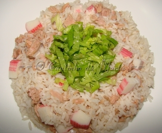 Arroz com Atum e Delícias do Mar