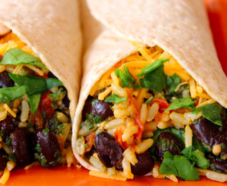 Spinach & Bean Burrito Wrap