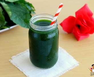 "Ugu ""Pumpkin Leaf"" juice"